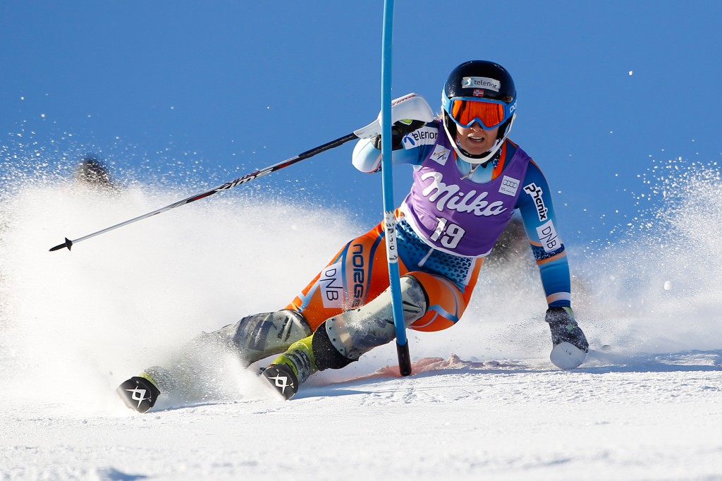 Nina Loeseth at the 2013 Courchevel World Cup. GEPA/Mathias Mandl