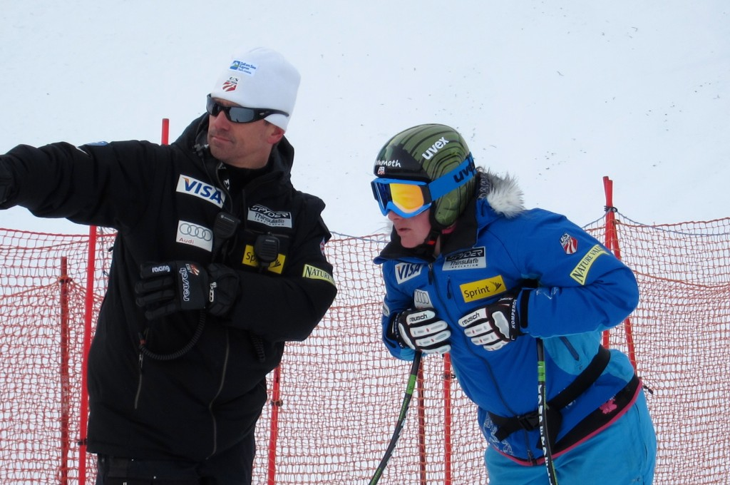 Alex Hoedlmoser during course inspection with Stacey Cook. Doug Haney/USST