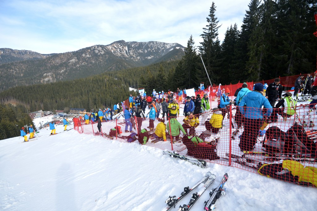 Scene at the top of 2014 FIS Alpine Junior World Championships. GEPA/Martin Hoermandinger