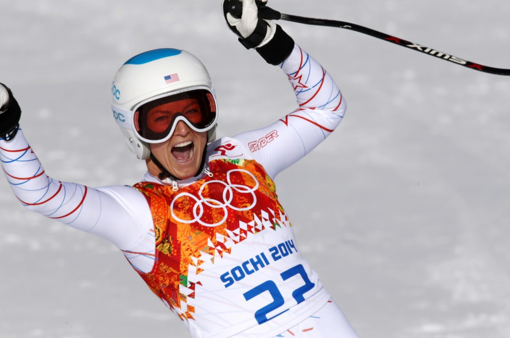 Julia Mancuso following her bronze medal performance in the Sochi Olympics. GEPA/Andreas Pranter