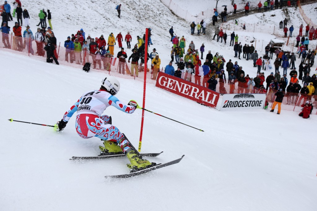 Athletes' Commission member Julien Lizeroux in the Kitzbuehel World Cup. GEPA/Andreas Pranter