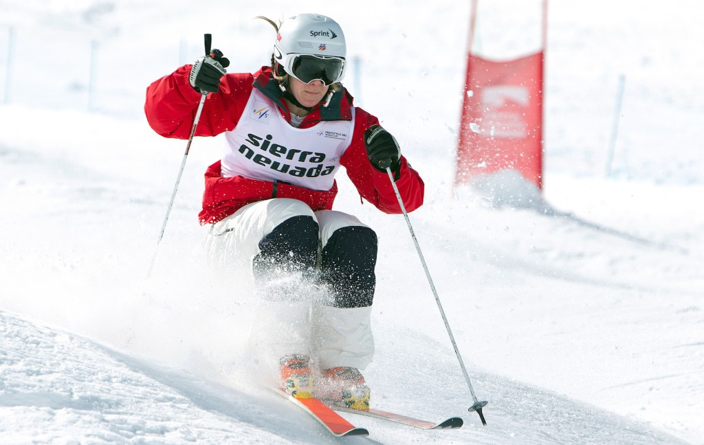 Hannah Kearney competes in Sierra Nevada, Spain in March. GEPA