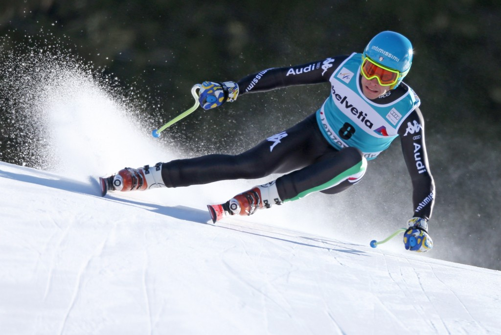 Christof Innerhofer at 2014 World Cup Finals in Lenzerheide. GEPA/Christian Walgram