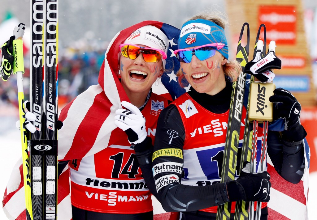 Jessie Diggins and Kikkan Randall return to the U.S. Ski Team for 2014-15. GEPA/Wolfgang Jannach