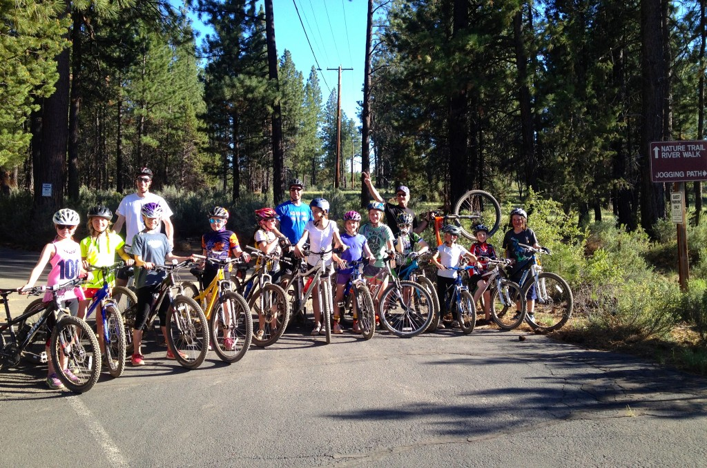SSCV athletes prepare for an afternoon of mountain biking.