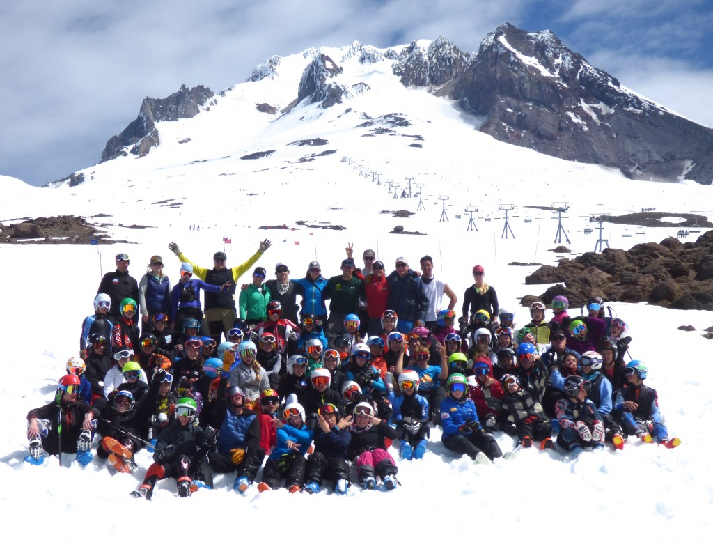 Ski racers from SMS, GMVS, and Burke meet up at Mt. Hood. C.J. Feehan
