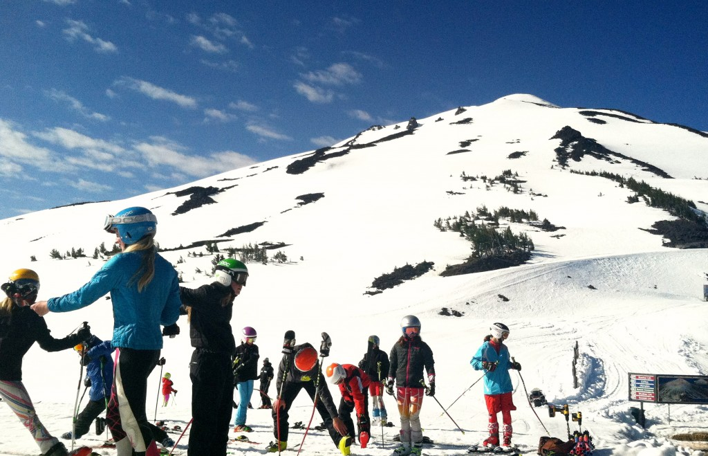 SSCV alpine athletes prepare for training at Mt. Bachelor.