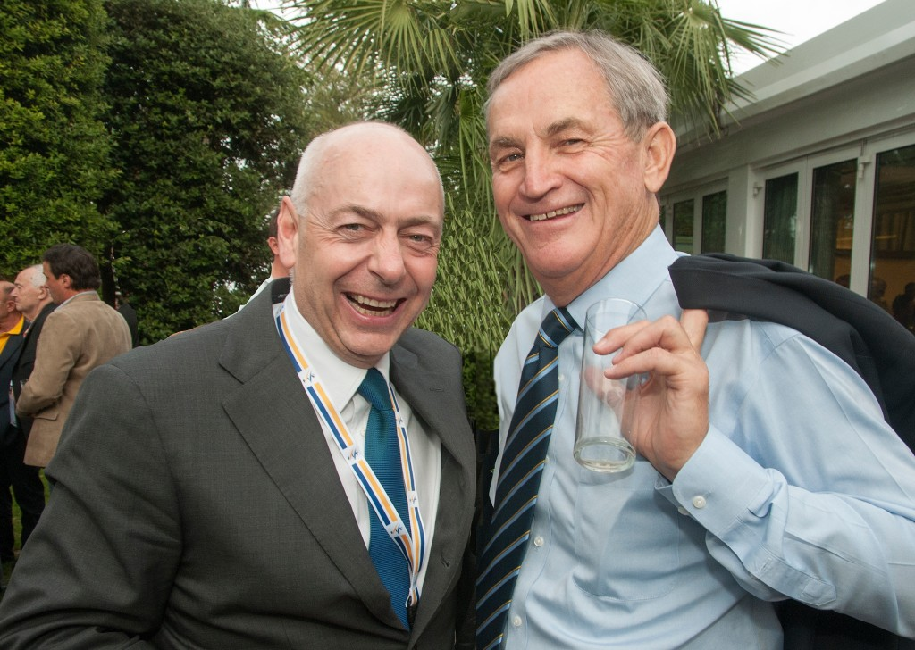 Dexter Paine and Bill Marolt at the 2014 FIS Congress in Barcelona. USSA/Tom Kelly