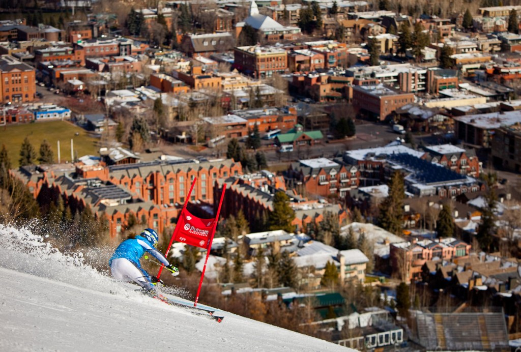 Mikaela Shiffrin training on the Aspen World Cup hill. Jeremy Swanson, Aspen/Snowmass