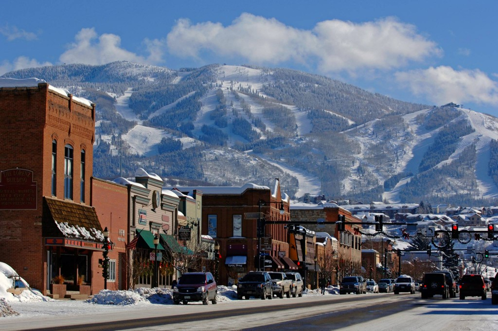 Downtown Steamboat Springs in Colorado. Steamboat Resort