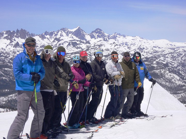 Jeff Pier (center) at the 2011 USSA Coaches National Academy at Mammoth Mountain. USSA
