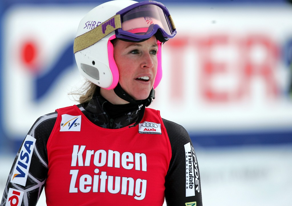 Caroline Lalive at the 2009 Altenmarkt/Zauchensee World Cup. GEPA/Mario Kneisl