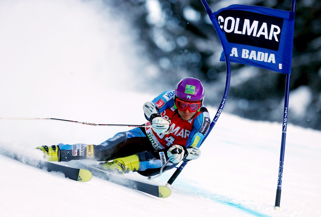 Tommy Ford in the 2012 Alta Badia World Cup. GEPA/Wolfgang Grebien