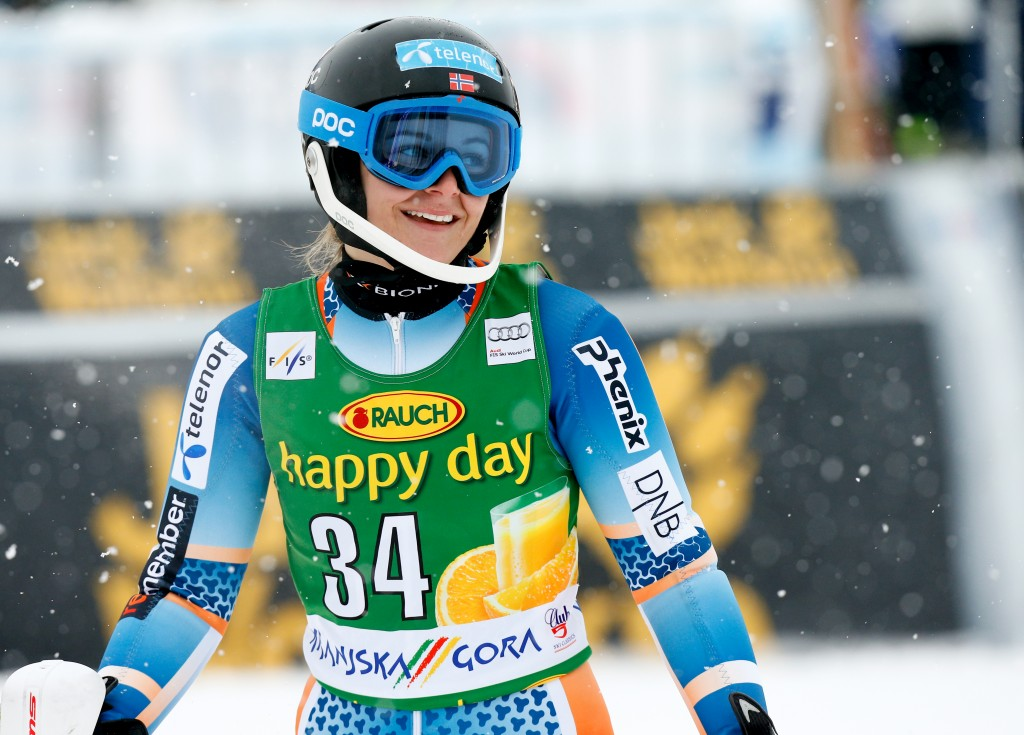 Mona Loeseth at the 2014 Kranjska Gora World Cup. GEPA/David Rodriguez Anchuelo