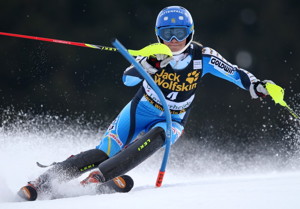 Frida Hansdotter at the World Cup Finals slalom in Lenzerheide. GEPA/Christian Walgram