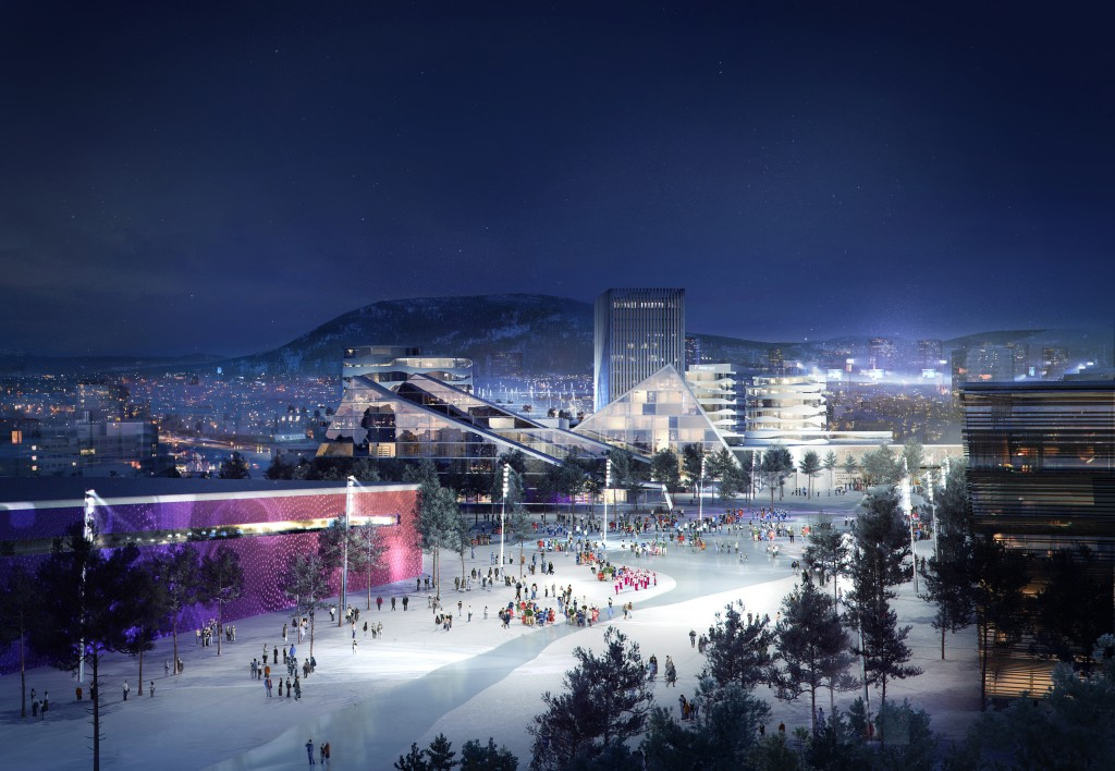 Proposed village for the Oslo 2022 bid.