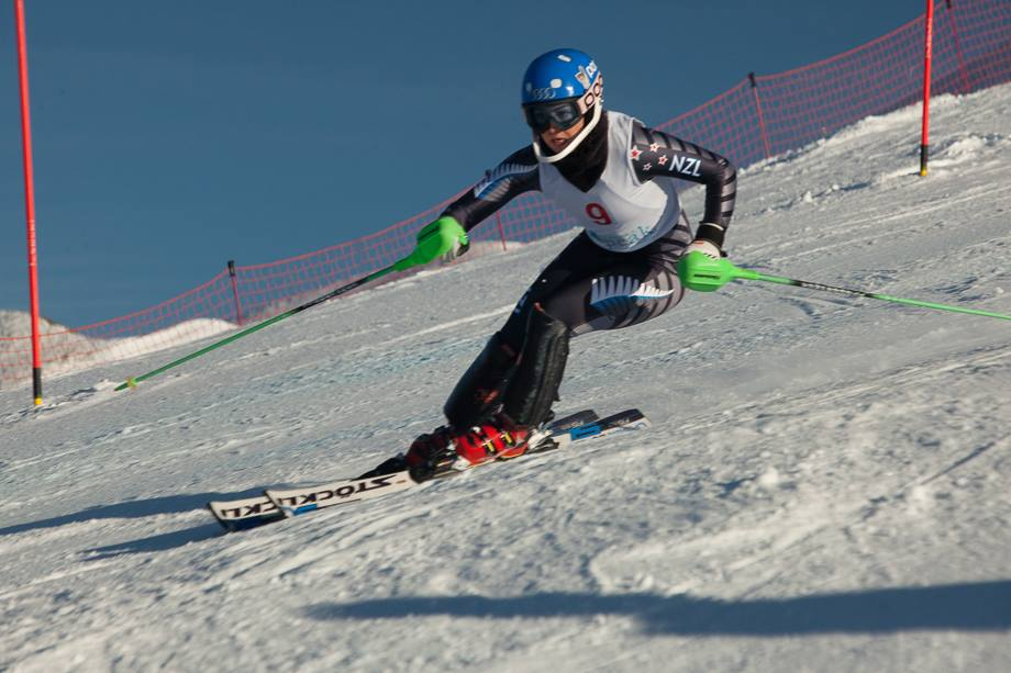 Piera Hudson at the 2014 NZ National Championships slalom. Antony Hansen/Wanaka TV
