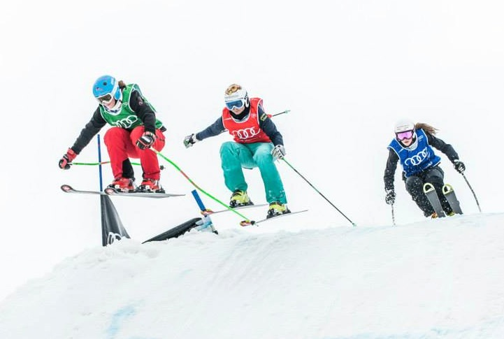 Ski cross starts with younger athletes in Switzerland. Audi Skicross