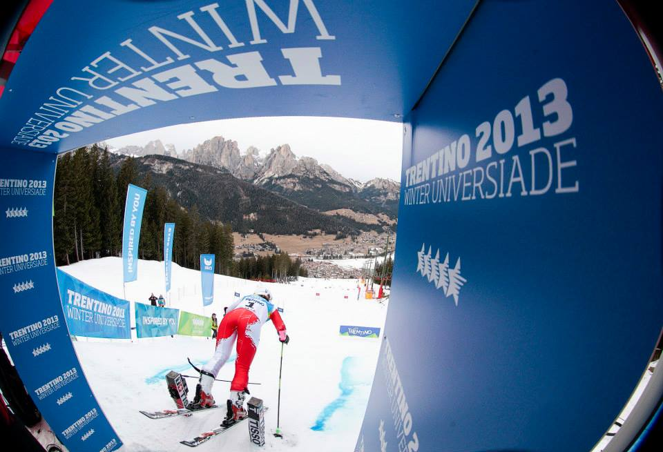Alpine start at the 2013 World University Games in Trentino, Italy. Federico Modica