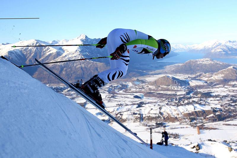 The FIS men's giant slalom at Coronet Peak in 2013. Winter Games NZ