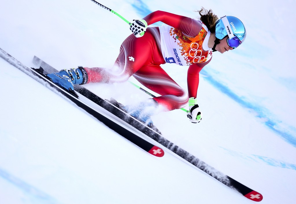 Nadja Jnglin-Kamer at the 2014 Sochi Olympics.