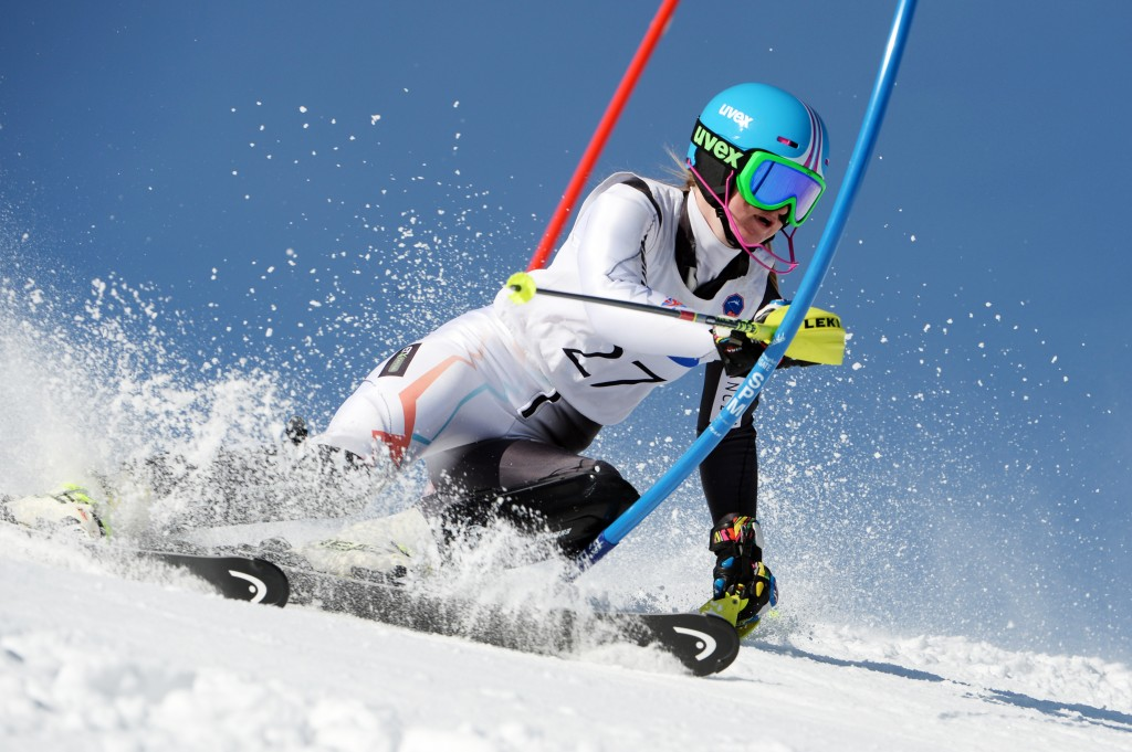 Charlie Guest racing in Schruns, Austria in March 2014. GEPA/Oliver Lerch