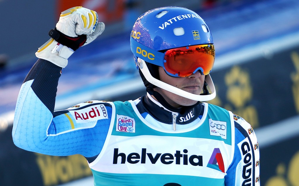 Andre Myhrer in the 2014 Adelboden World Cup slalom. GEPA/Mario Kneisl