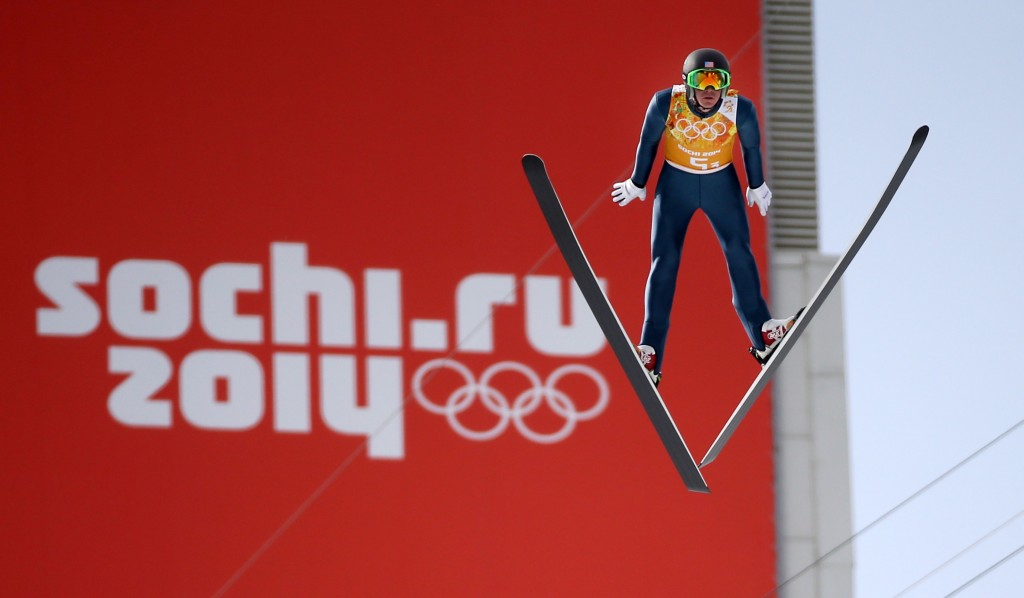 Bill Demong at the 2014 Sochi Olympic Winter Games. GEPA/Christian Walgram
