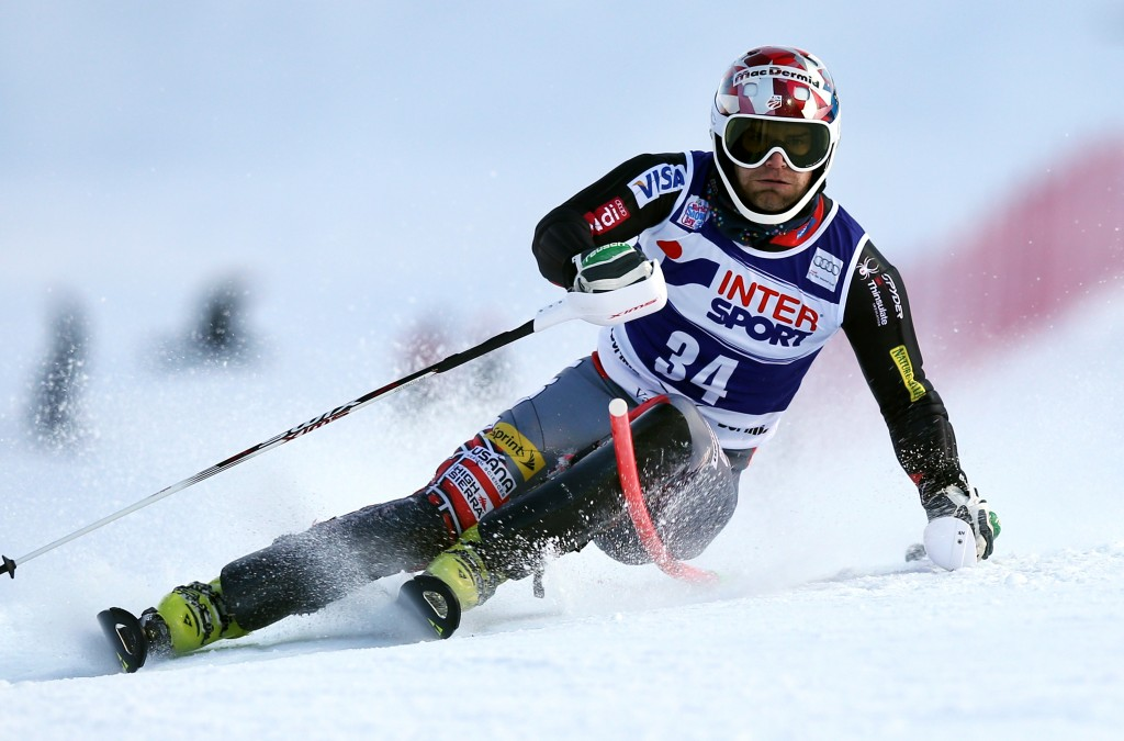 Nolan Kasper at the 2014 Bormio World Cup. GEPA/Christian Walgram