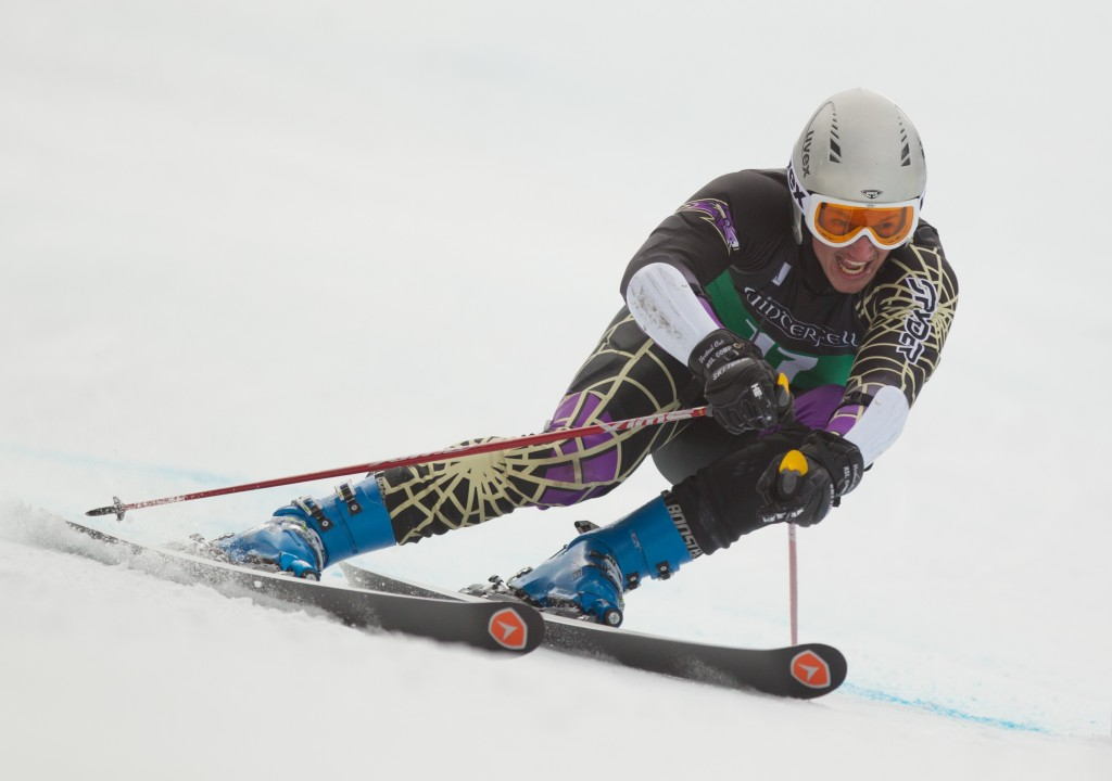 Brad Farrell in the 2014 Middlebury Carnival GS. Dustin Satloff/EISA