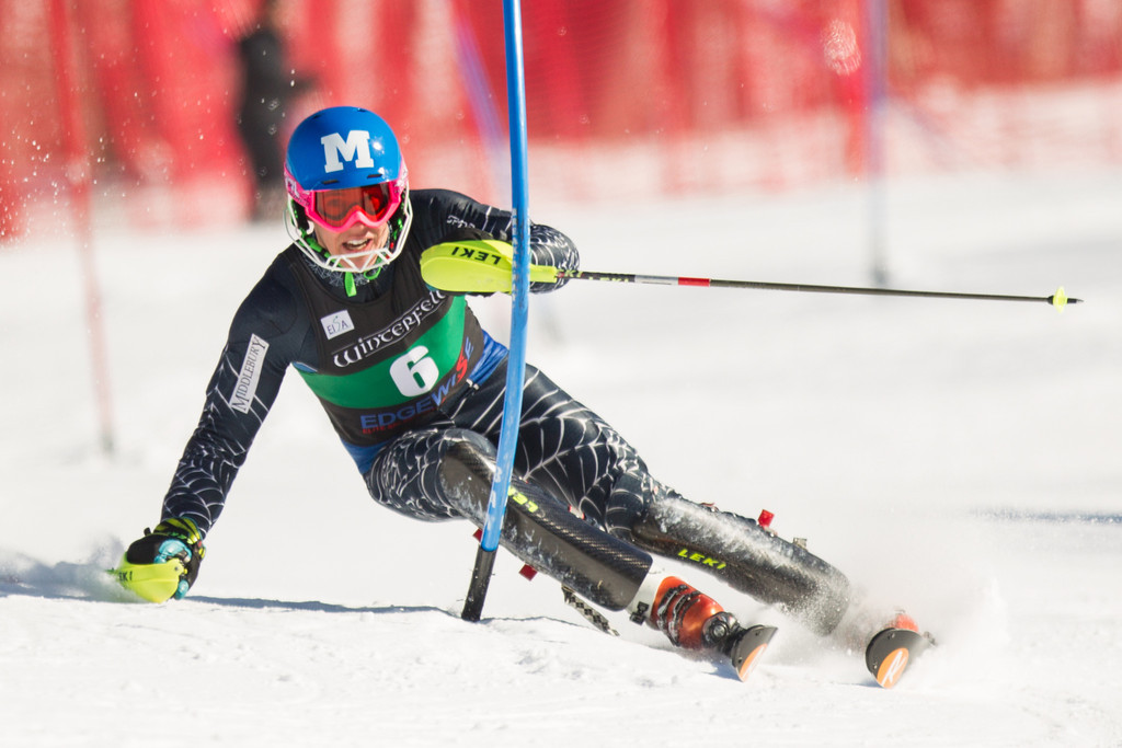 Hig Roberts at the 2014 Dartmouth Carnival slalom. EISA/Dustin Satloff