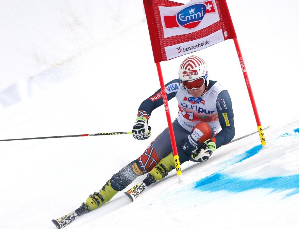 U.S. Ski Team athlete Tim Jitloff at the 2014 World Cup Finals. GEPA/Wolfgang Grebien