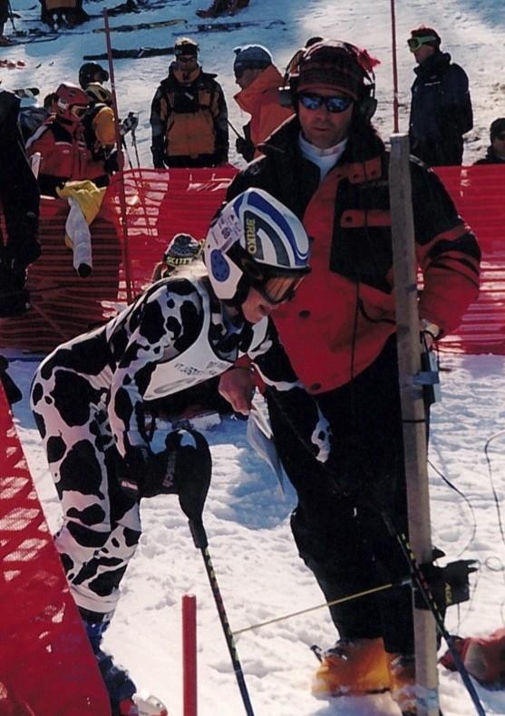 Stephen at an alpine race.