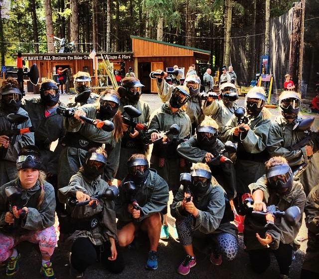 Eastern Region ladies paintball