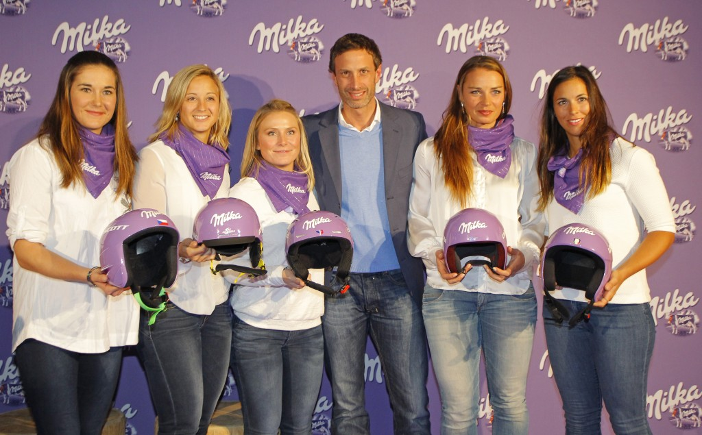 Milka Ski Stars make an appearance at the annual press conference. GEPA
