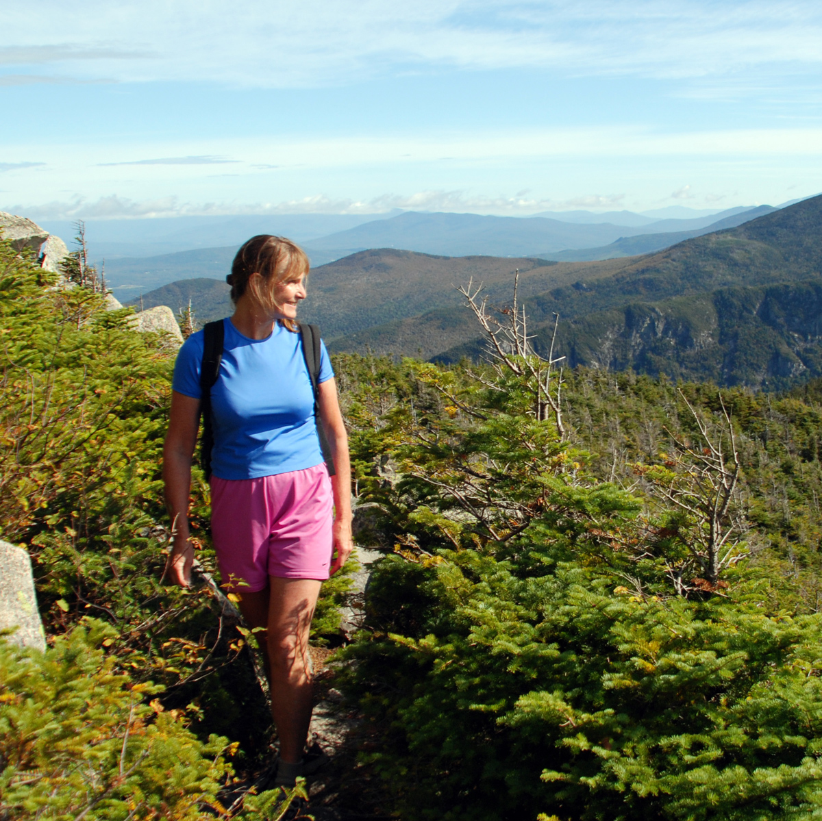 LDensmore_NH-Cannon-Mt_Cindy-Berlack,-hiking