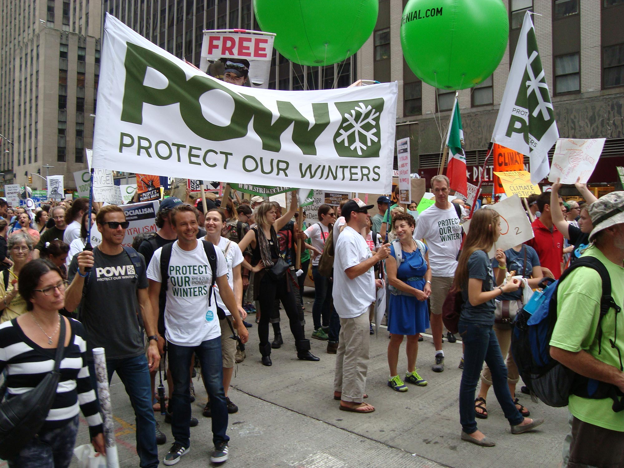 Andy Newell takes Manhattan on behalf of Protect our Winters. Andy Newell