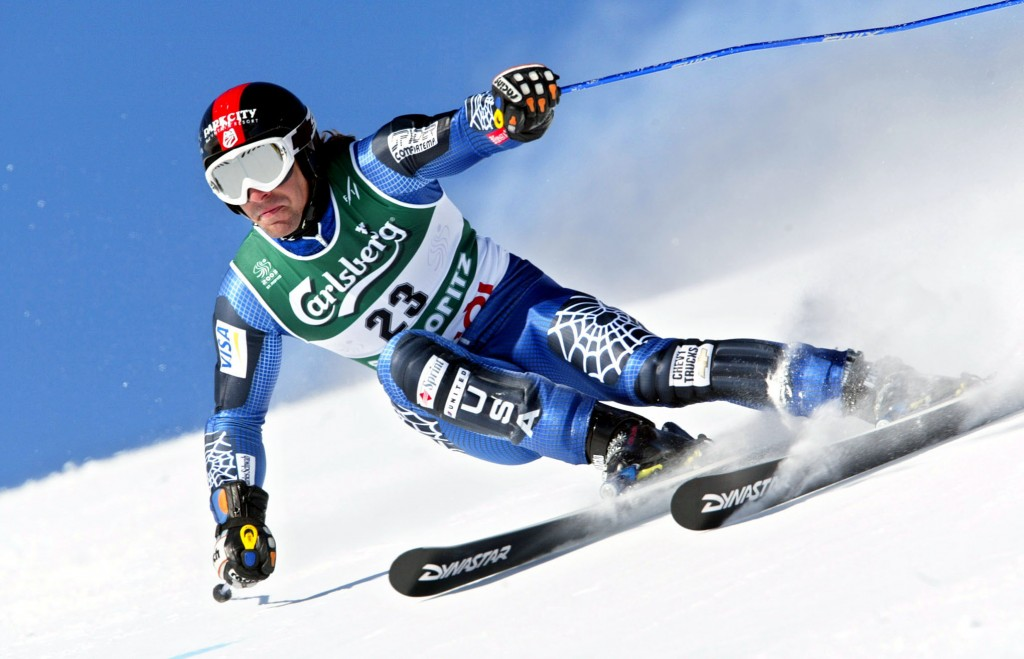 Erik Schlopy on his way to World Championship bronze in 2003. GEPA