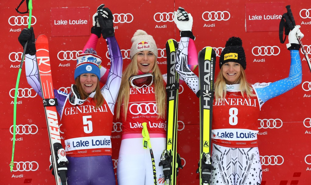 First-ever American podium sweep on the FIS World Cup tour. GEPA