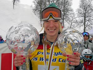 Freestyle overall champ Hannah Kearney - photo from Ski Racing