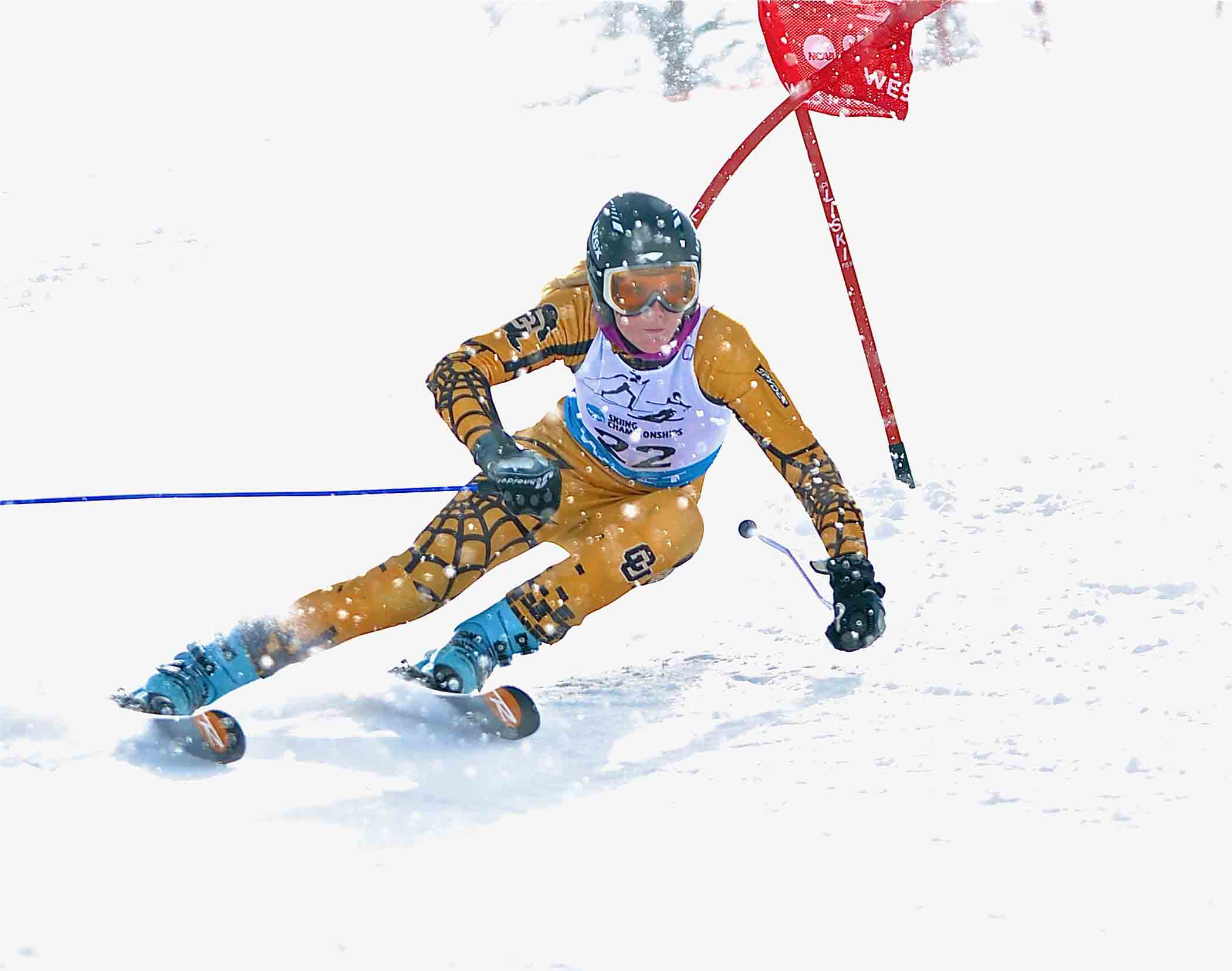 Katie Hartman, who won the World University Games super G Jan. 29, skiing for CU last season