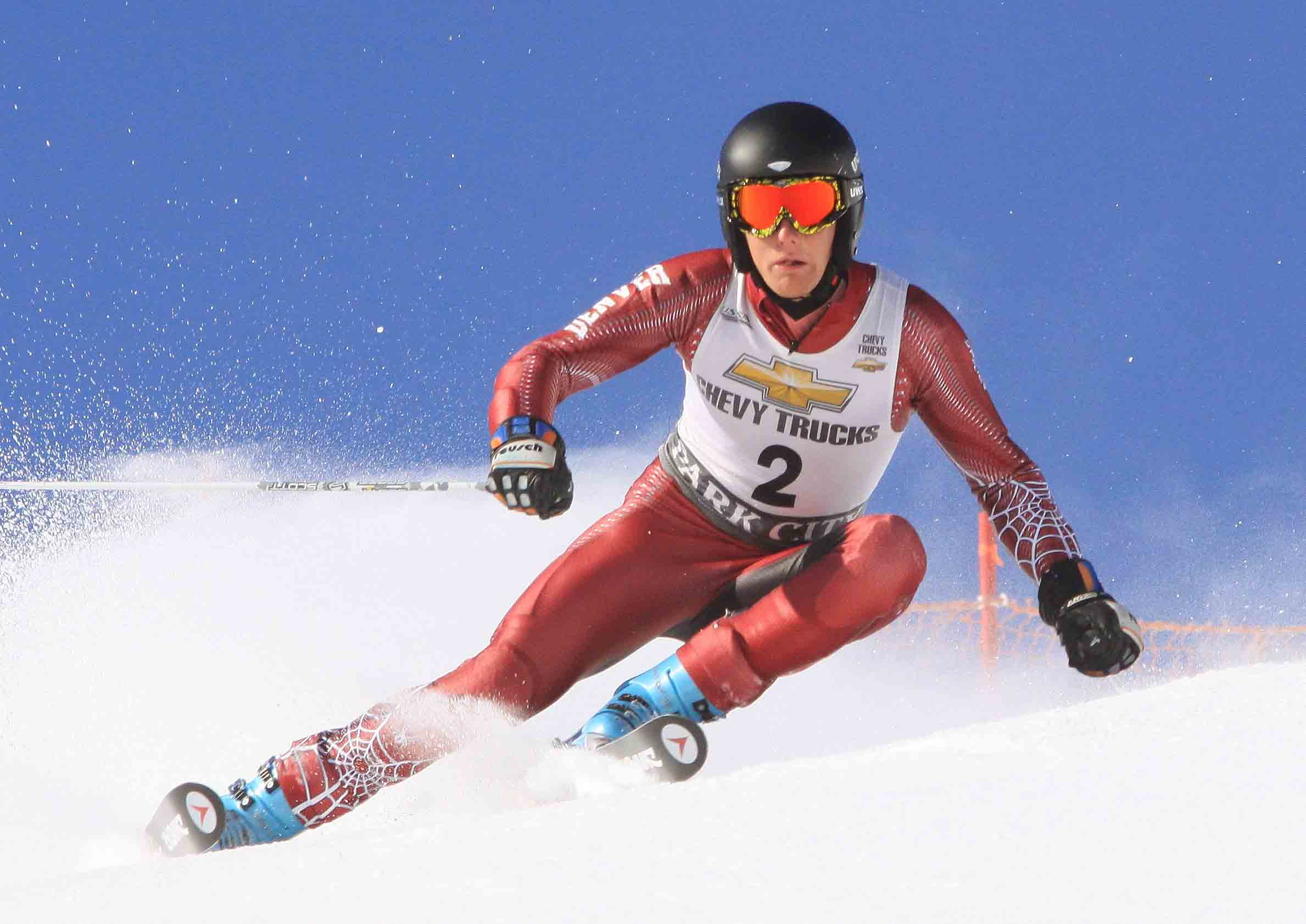 Pictured racing in 2009, DU's Seppi Stiegler won the 2011 Winter World University Games slalom in Turkey. Credit: DU