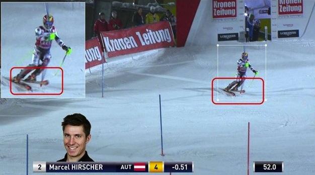 Austrian Ski Federation's photo defense of Hirscher's clear passage.