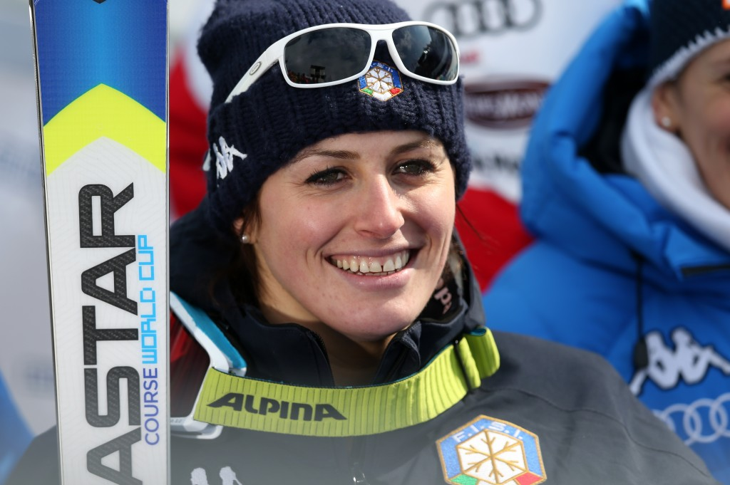 Nadia Fanchini at the 2013 World Championships in Schladming. GEPA/Christian Walgram