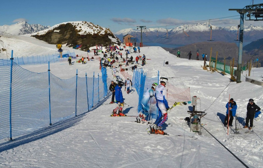Athletes at the Coronet Cup races. Coronet Peak