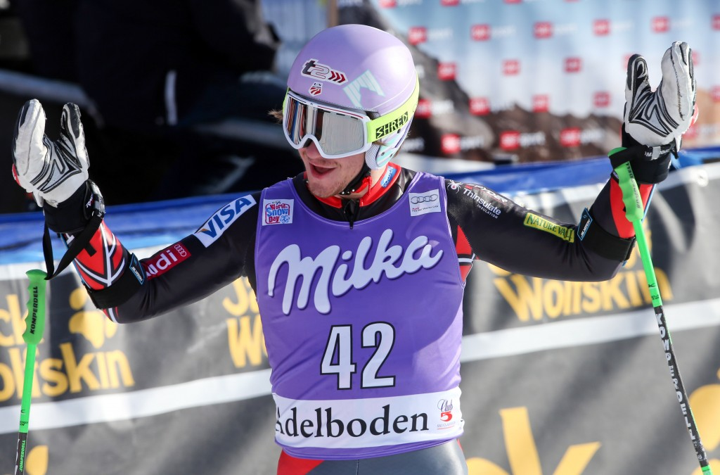 Robby Kelley qualifies for a second run in Adelboden, once again. GEPA/Mario Kneisl