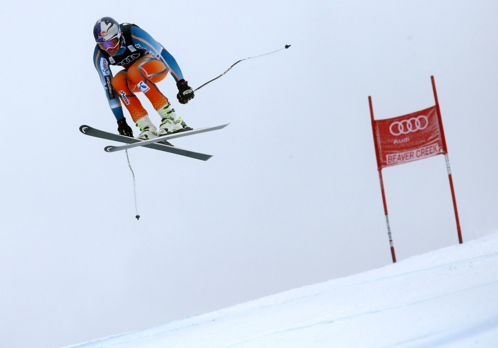 Askel Lund Svindal on the Birds of Prey in 2013.