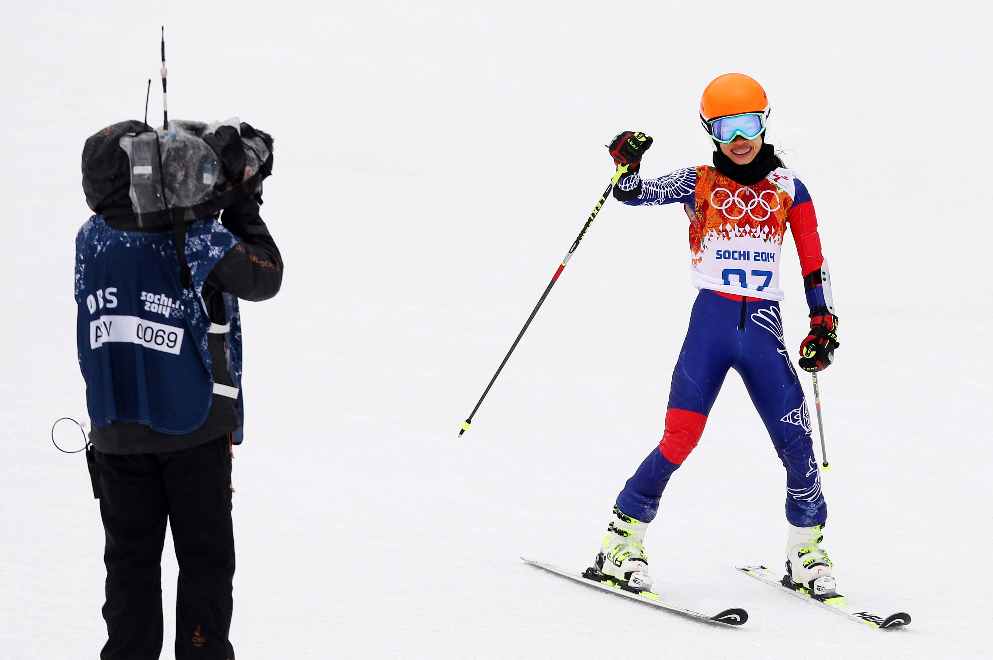 Sochi participant Vanessa-Mae has been banned from ski racing for four years as a result of a fixed Olympic qualification process. GEPA